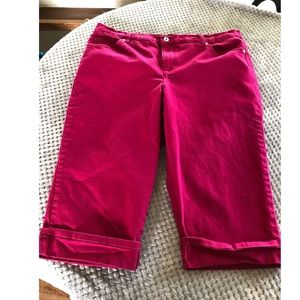 Gloria Vanderbilt Pink Capri Jeans Size 16W